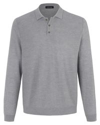 Louis Sayn Polo-Pullover aus 100% Schurwolle-Biella Yarn grau in Gray für Herren