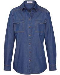 Looxent Blue Jeanshemd in authentischer Ausstattung denim