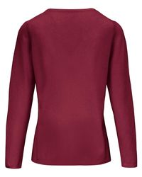 include Red Rundhals-Pullover rot