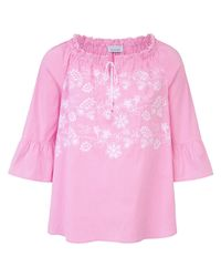 just white Pink Bluse 3/4-Arm mehrfarbig