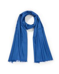 L'écharpe matière purement naturelle Uta Raasch en coloris Blue