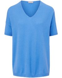 include Blue V-pullover aus 100% premium-kaschmir