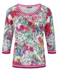 Basler Multicolor Rundhals-pullover 3/4-arm größe