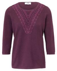 Peter Hahn Purple Pullover aus 100% supima®-baumwolle