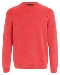 Le pull pur coton, encolure ras-de-cou Peter Hahn pour homme en coloris Red