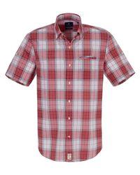 Pierre Cardin Hemd modern fit 1/2-arm größe in Red für Herren