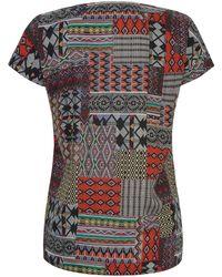 Emilia Lay Multicolor Shirt-Bluse zum Schlupfen mehrfarbig