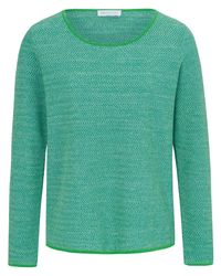 St. Emile Green Rundhals-Pullover mehrfarbig