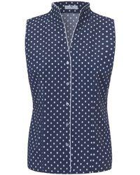 Le top 100% coton sans manches Peter Hahn en coloris Blue