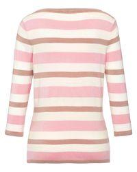 Peter Hahn Pink Rundhals-pullover 3/4-arm größe