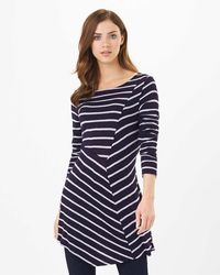Phase Eight - Multicolor Cutabout Stripe Top - Lyst