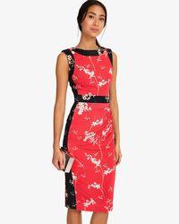 Phase Eight Red Genova Print Dress