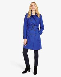 Phase Eight - Blue Tabatha Trench Coat - Lyst