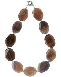 Phase Eight - Gray Lila Stone Necklace - Lyst