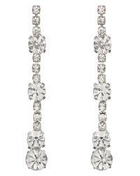Phase Eight | Metallic Kiera Crystal Drop Earrings | Lyst
