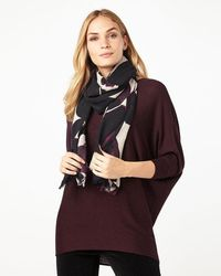 Phase Eight | Multicolor Leaf Wool Blend Scarf | Lyst