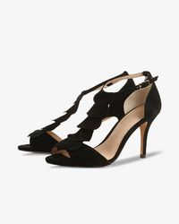 Phase Eight Black Kady Suede Sandals