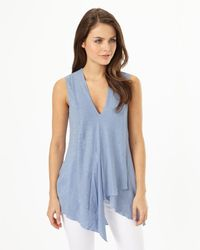 Phase Eight - Blue Maisie Linen Kaftan Top - Lyst