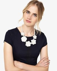 Phase Eight - White Macey Necklace - Lyst