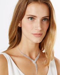Phase Eight - Metallic Shelley Drop Crystal Necklace - Lyst