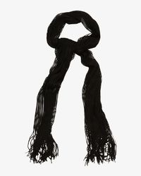 Phase Eight Black Mira Shimmer Scarf