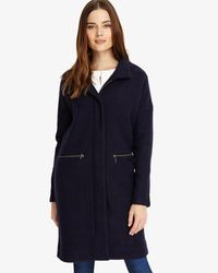 Phase Eight - Blue Katie Funnel Neck Coat - Lyst