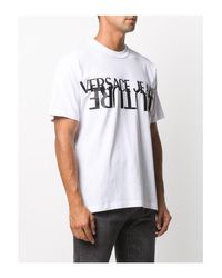 Versace Jeans White Upside Down Couture Tee for men