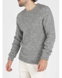 American Vintage Gray Regular-fit Round-neck Baby Alpaca Blend Sweater for men