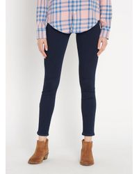 7 For All Mankind Blue High-rise Skinny Jeans