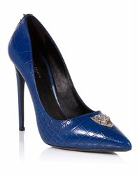 "Philipp Plein - Blue Decollete Hi-heels ""dalma"" - Lyst"
