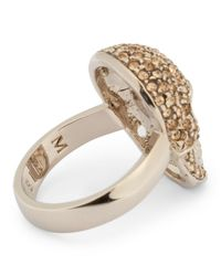 Philipp Plein Metallic Embellished Skull Ring