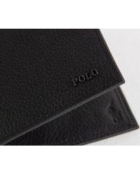 Ralph Lauren - Classic Billfold Wallet With Metal Polo Logo Black for Men - Lyst