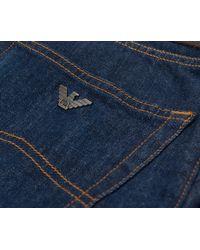 Armani Jeans - Regular Fit Classic Denim Jeans Mid Blue for Men - Lyst
