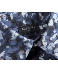 Paul Smith - Abstract Floral Shirt Ls Blue/white for Men - Lyst