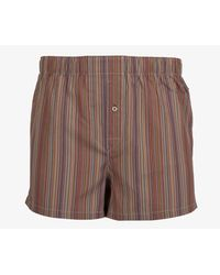 Paul Smith - Brown Loose Fit Vertical Striped Boxers Multi for Men - Lyst