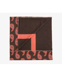 Paul Smith Multicolor Giant Paisley Soft Wool Scarf Chocolate & Pink for men