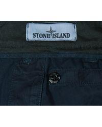 Stone Island - Blue Garment Dyed Cargo Shorts Washed Dark Navy for Men - Lyst