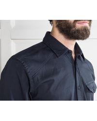 Belstaff Blue Steadway Cotton Shirt for men