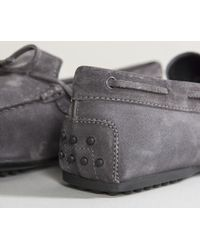 Tod's - Gray City Gommino Suede Driving Shoes Ash Grey for Men - Lyst