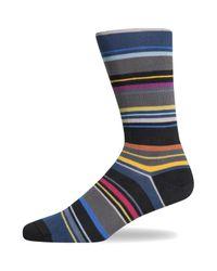 Paul Smith Furn Stripe Sock Black for men
