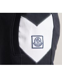 Moncler Gamme Bleu Blue Jogging Pants With Logo Trim Navy for men