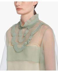 Prada - Green Cigaline Top With Plastron - Lyst