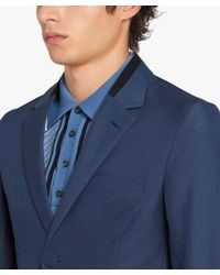 Prada - Blue Single-breasted Cotton Jacket for Men - Lyst