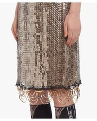 Prada - Metallic Jeweled Metal Mesh Skirt - Lyst