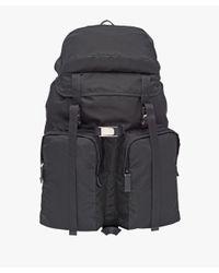 Prada - Black Technical Fabric Backpack for Men - Lyst