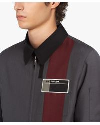 Prada - Gray Wool And Mohair Jacket for Men - Lyst