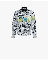 Prada - Multicolor Printed Cotton Poplin Shirt for Men - Lyst