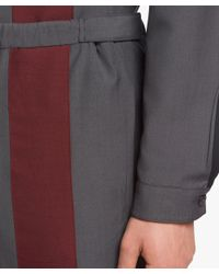 Prada - Gray Wool And Mohair Trousers for Men - Lyst