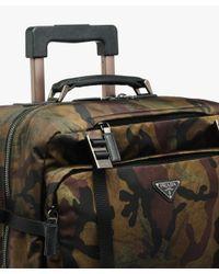 Prada - Multicolor Nylon And Saffiano Leather Trolley for Men - Lyst