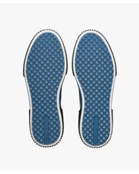 Prada - Blue Technical Mesh And Leather Sneakers for Men - Lyst
